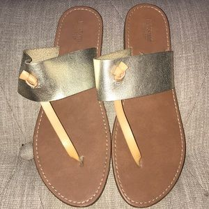 Mossimo sandals with gold strap